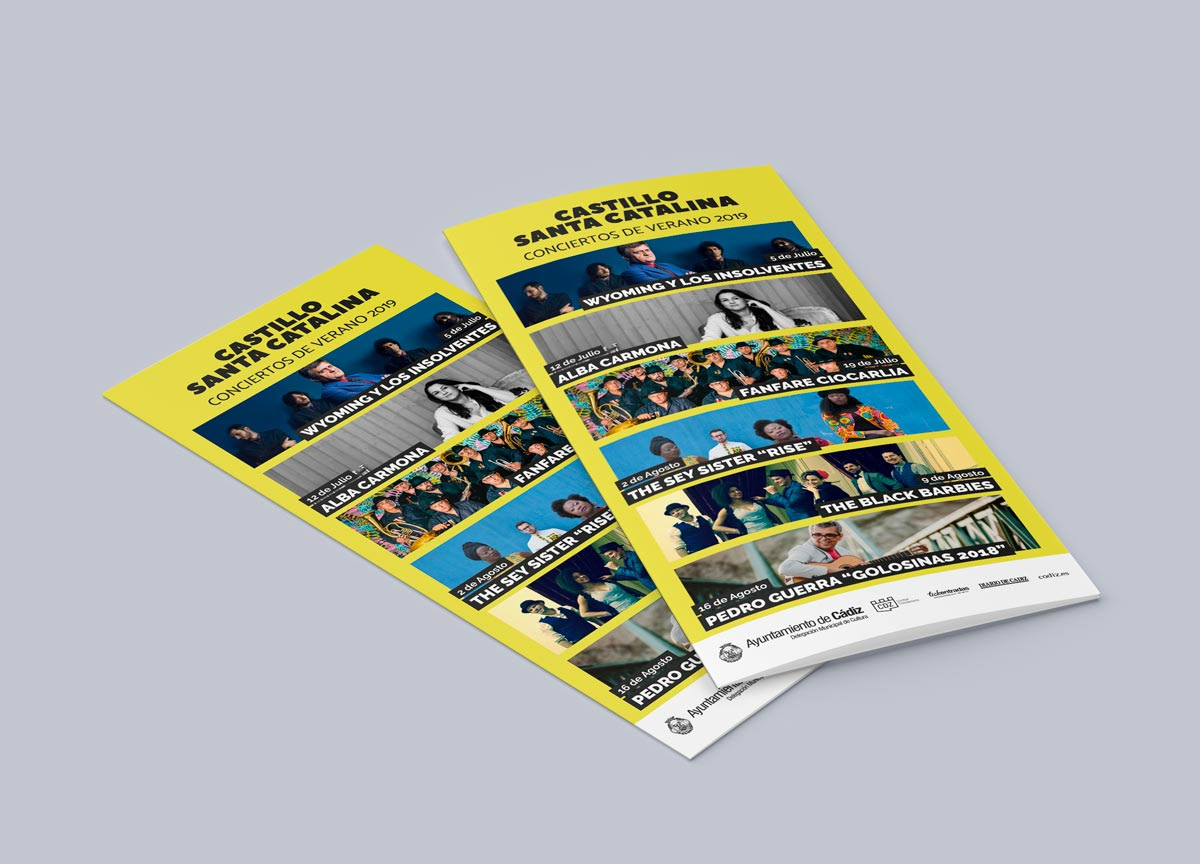 Díptico portada - Campaña publicitaria - Castillo Santa Catalina (Julio-Agosto 2019)