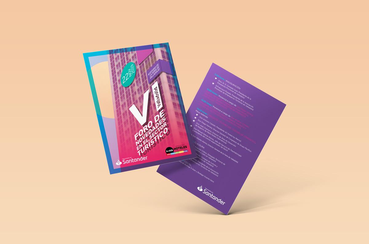 Programa - Diseño de imagen de evento - VI Foro de Novedades en el Sector Turístico 2019