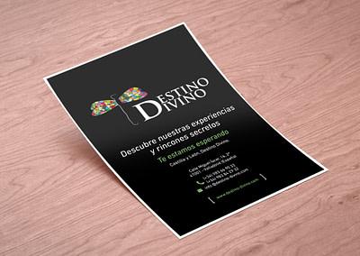 Diseño editorial del flyer de Destino Divino para Fritur 2017