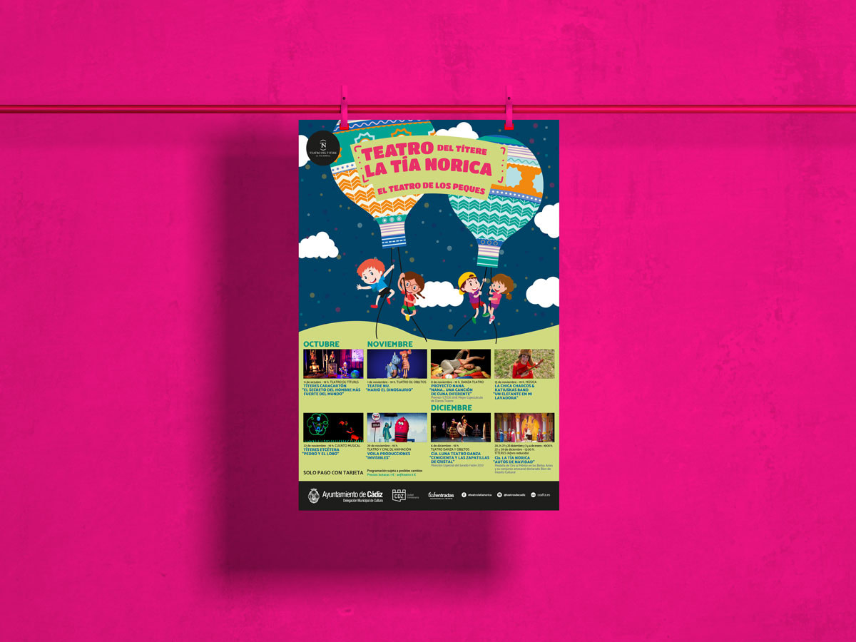 Cartel - Campaña de publicidad - Teatro del Títere - La Tía Norica (Octubre - Diciembre 2019)