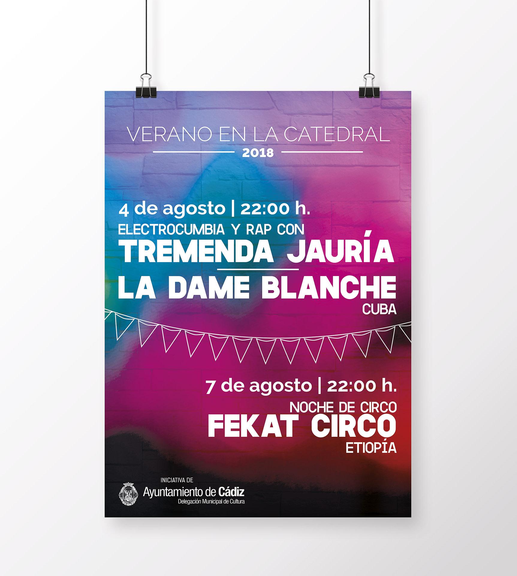 Cartel - campaña de publicidad - Verano en la Catedral 2018