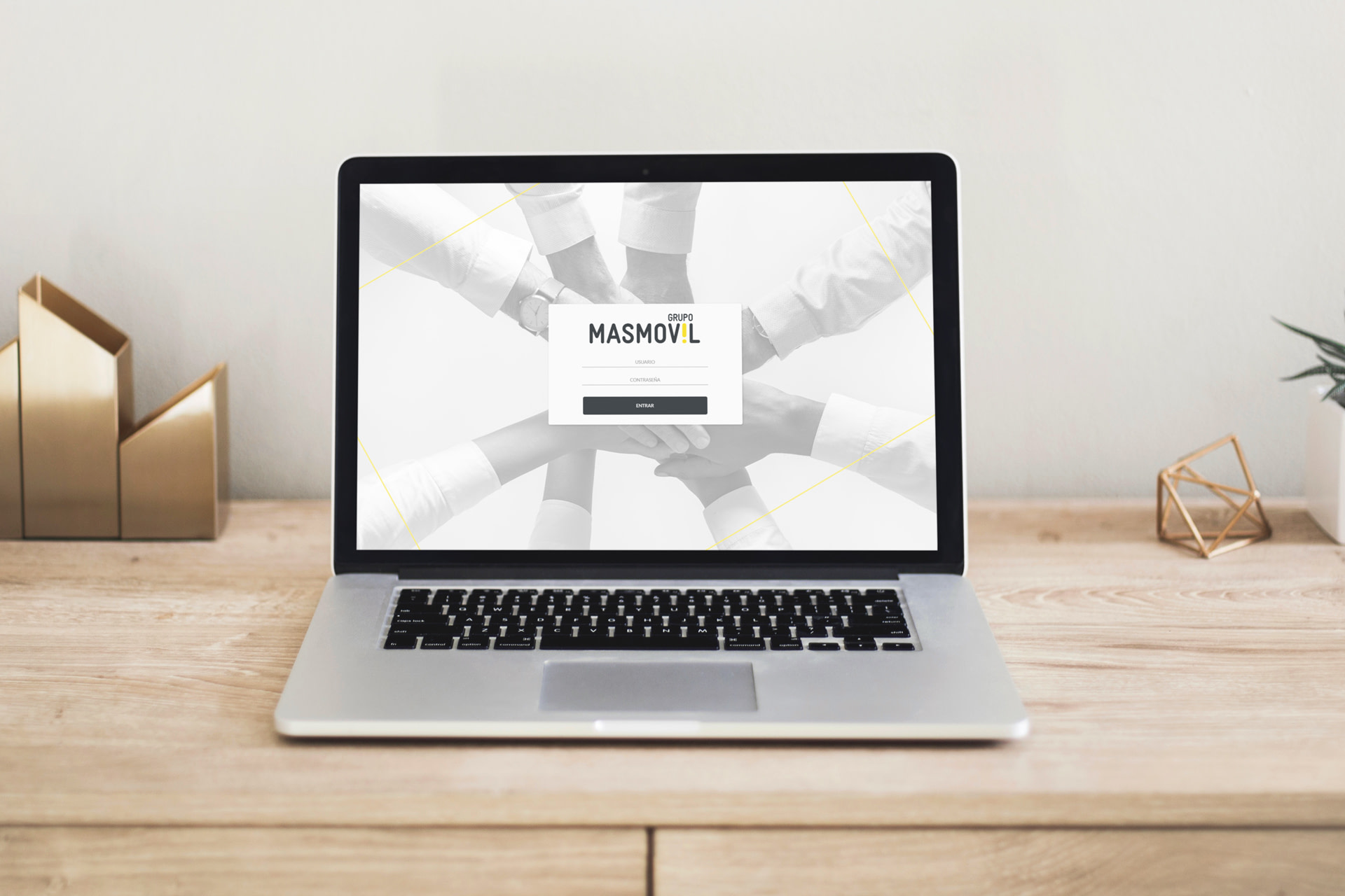 Login (PC) - Diseño web - Portal Grupo MasMovil