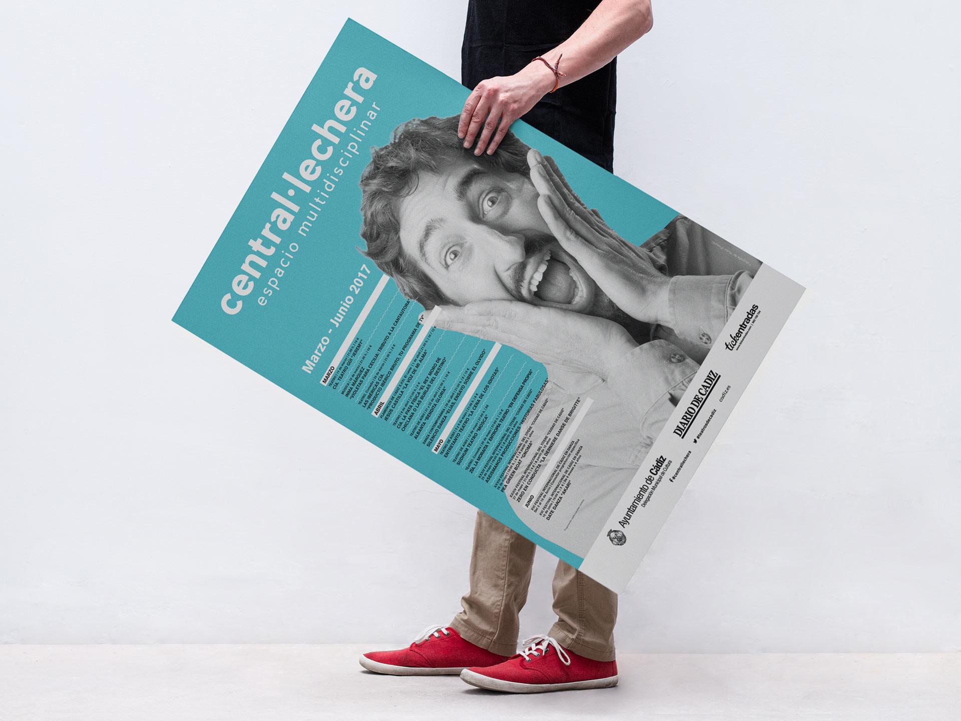 Cartel - Campaña de publicidad - Sala Central Lechera (Marzo-Junio 2017)