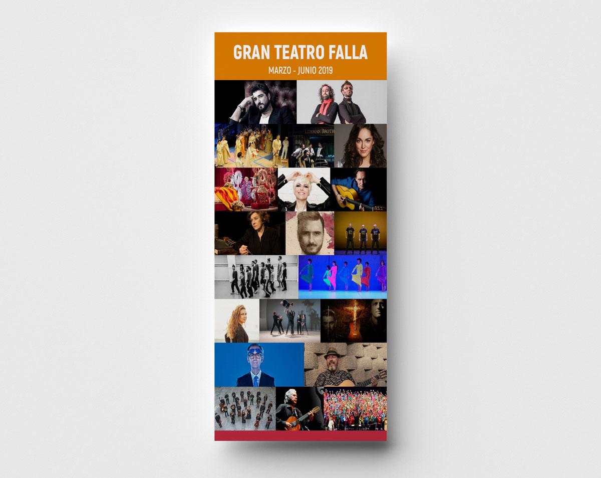Folleto - Campaña de publicidad - Gran Teatro Falla (Marzo - Junio 2019)