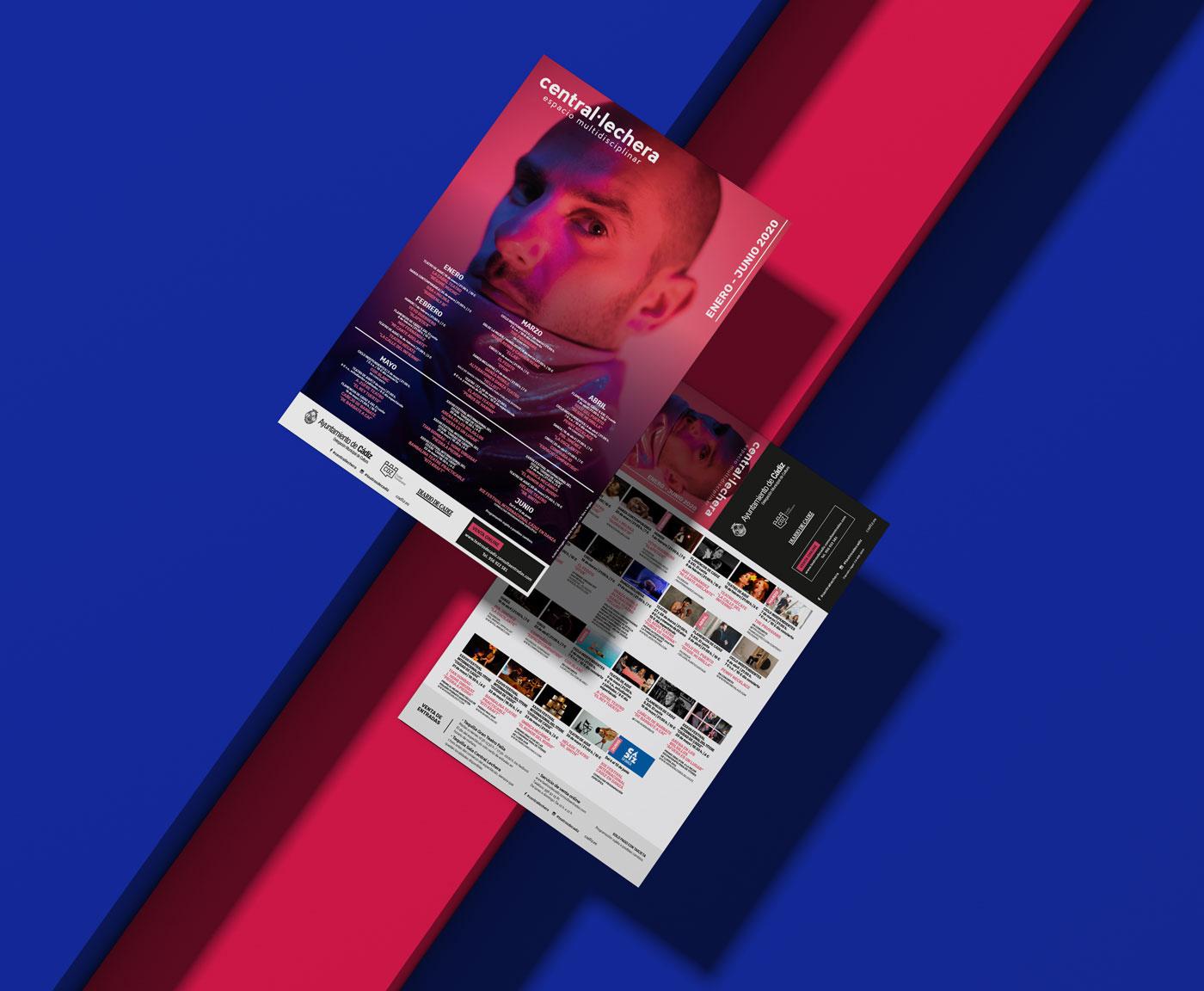 Programa - Diseño editorial - Sala Central Lechera (Enero - Junio 2019)