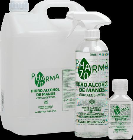 Gel hidroalcohólico de Manos con Aloe Vera HA70 PHARMA (nuevo)