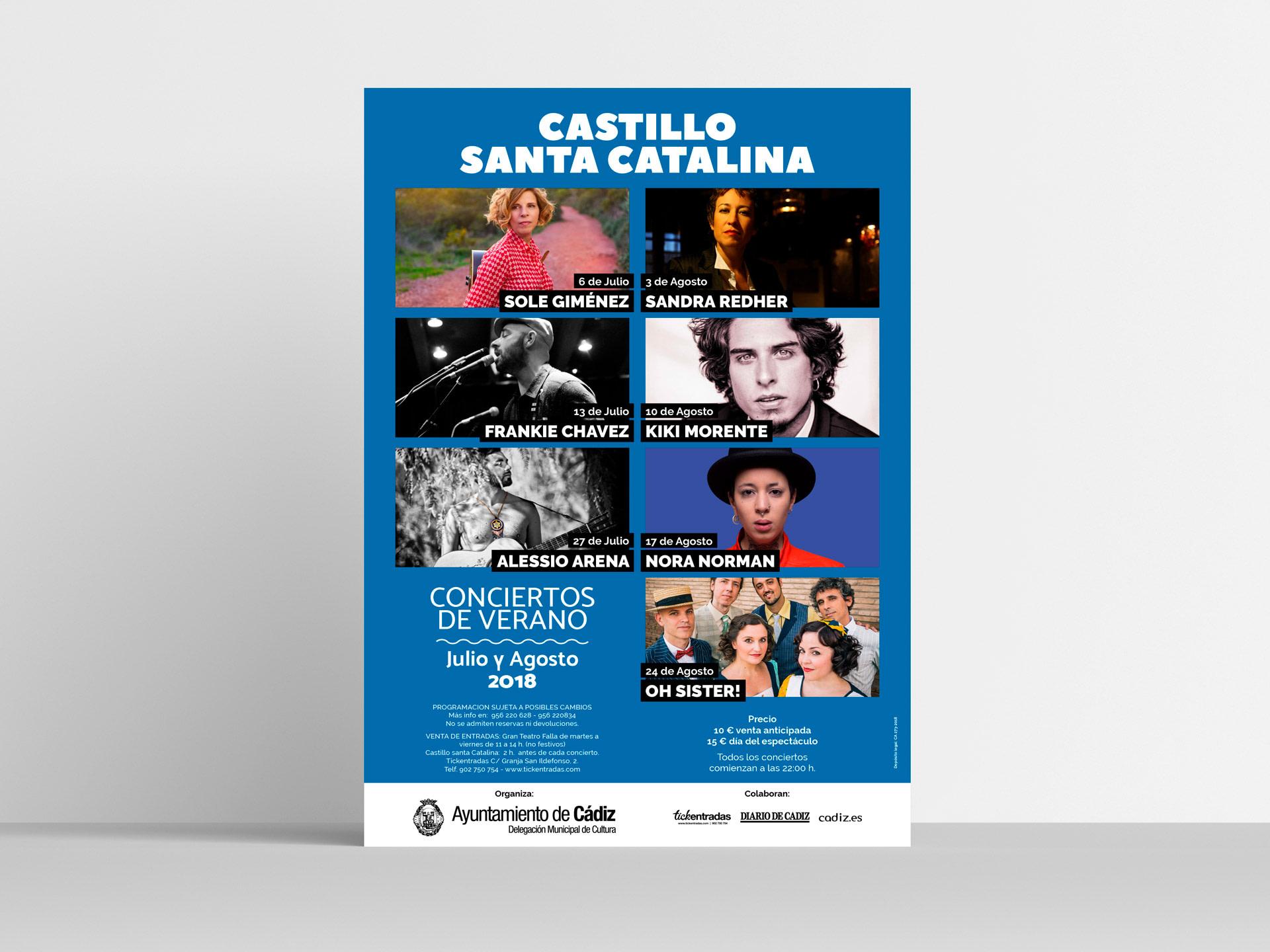 Cartel - Campaña de publicidad - Castillo Santa Catalina 2018