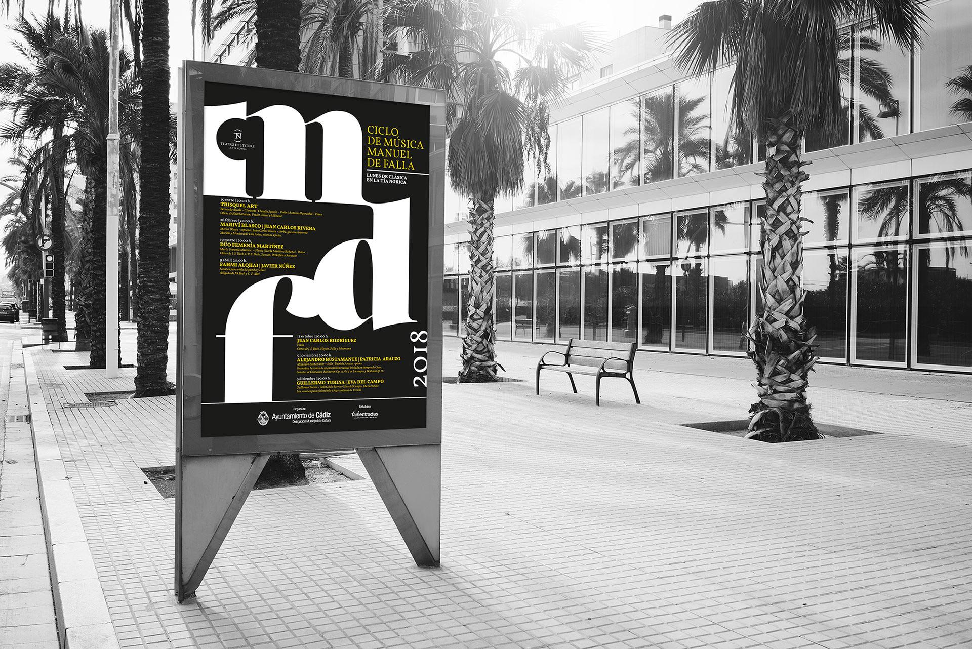 Mupi - Campaña de publicidad - Ciclo de música - Manuel de Falla 2018