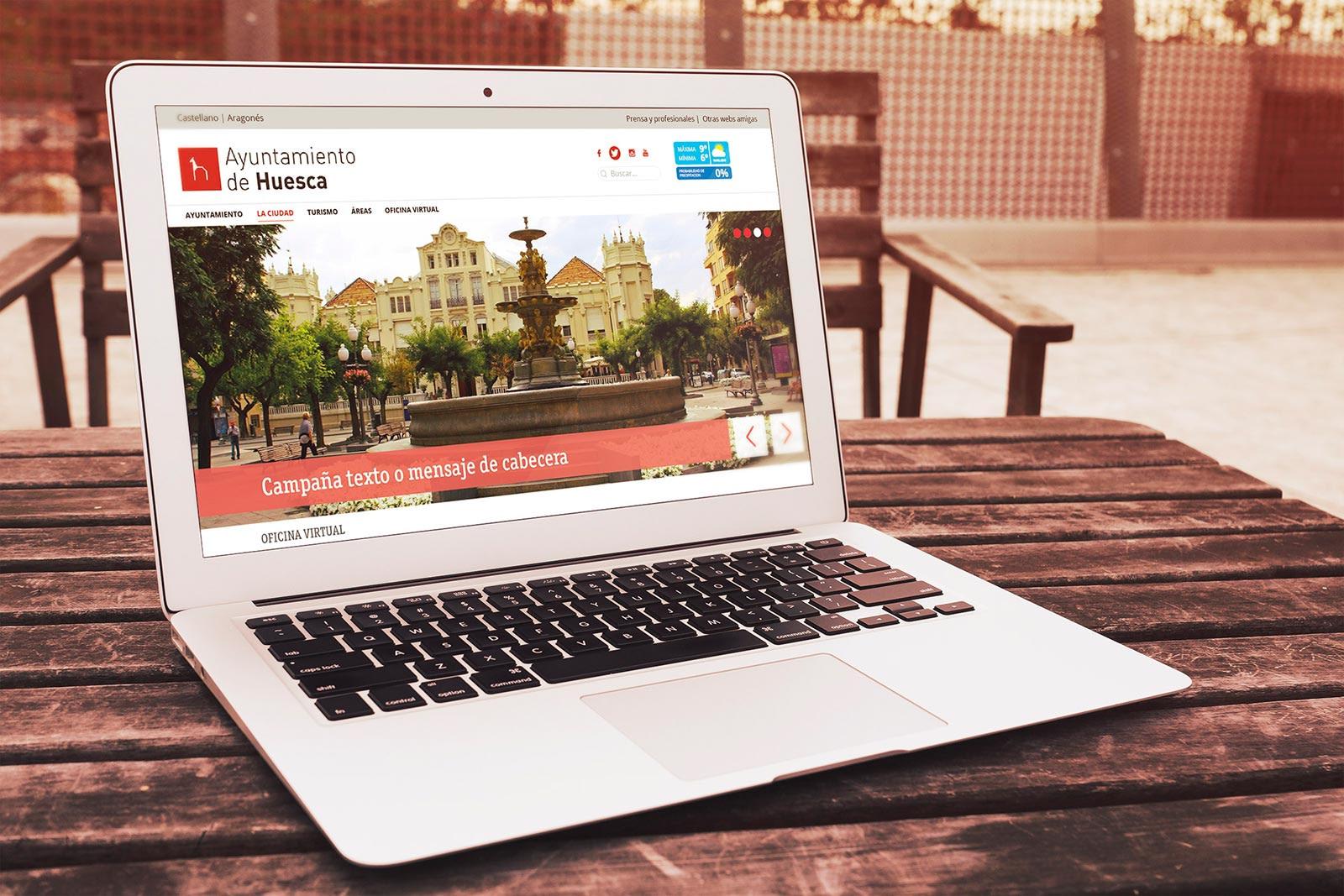 Página web - Ayuntamiento de Huesca (Propuesta versión escritorio)