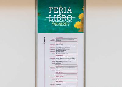 """Vinilo Caseta firmas - Diseño editorial - Maquetación de los soportes """"Feria del Libro de Valladolid 2019"""""""
