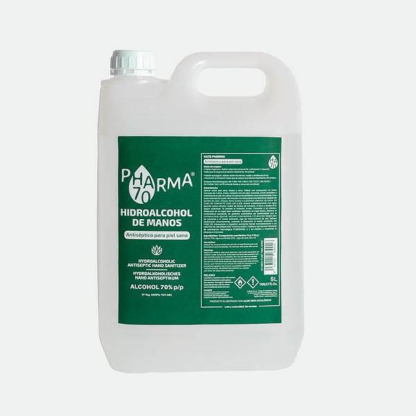 Gel Hidroalcohólico en Spray (5L) - HA70 Pharma – Antiséptico para Piel Sana