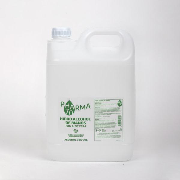 Gel hidroalcohólico de Manos con Aloe Vera HA70 PHARMA (Garrafa 5 litros) (nuevo)