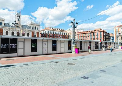 """Vinilos concurso fotografía 1 - Diseño editorial - Maquetación de los soportes """"Feria del Libro de Valladolid 2019"""""""