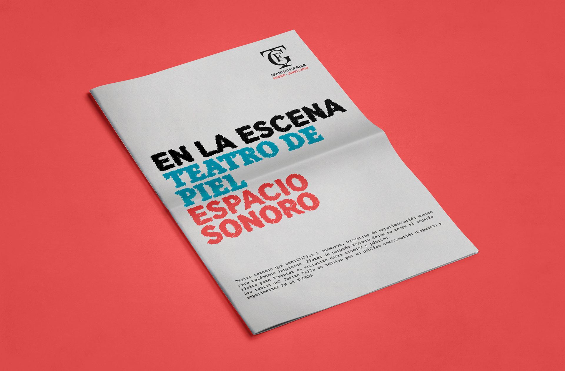 Gaceta portada - Diseño editorial de la gaceta del Gran Teatro Falla (Marzo - Junio 2018)