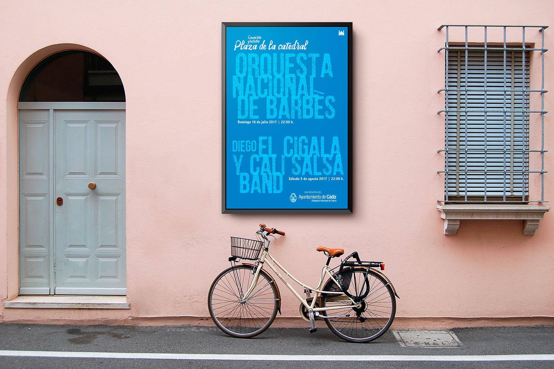 Cartel - campaña de publicidad - Conciertos en la Catedral (2017)