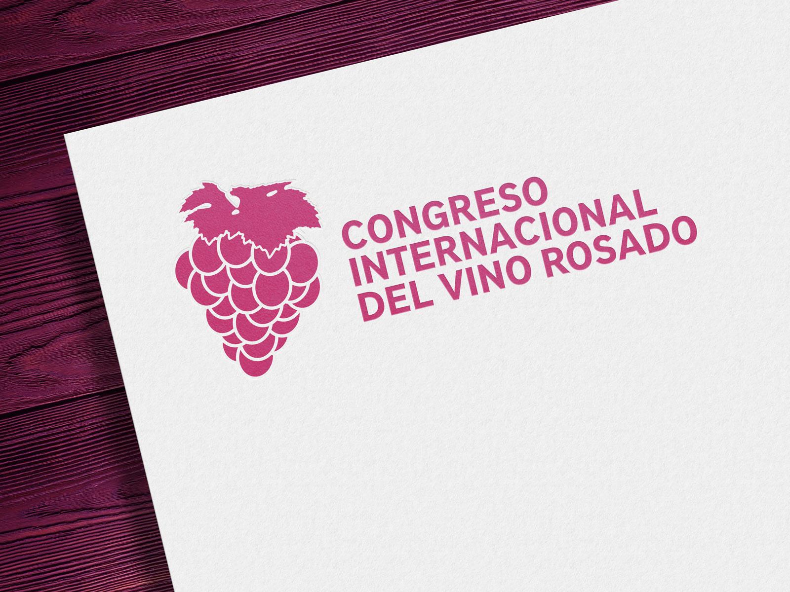 Diseño de identidad visual corporativa - Congreso Internacional del Vino Rosado