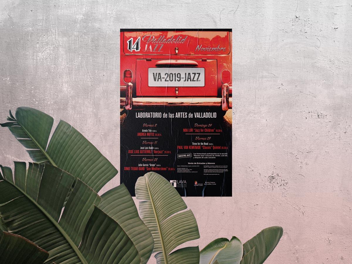 Vinilo - Diseño publicitario - Festival 14º Jazz Valladolid 2019