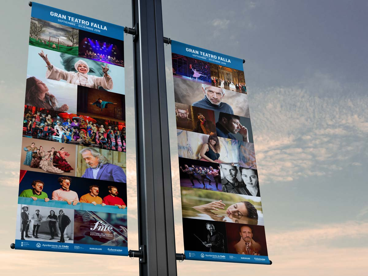 Lonas - Campaña de publicidad - Gran Teatro Falla (Septiembre - Diciembre 2019)