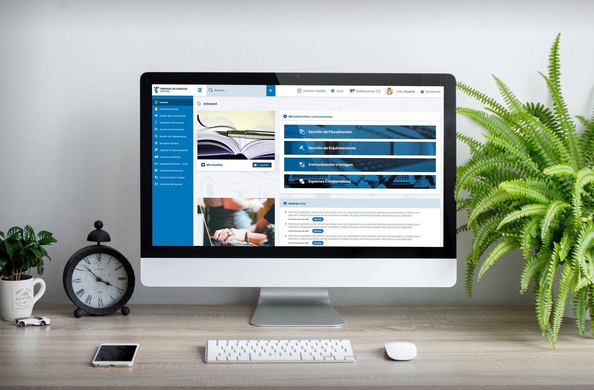 Home simplificada (PC) (Colapsada) - Diseño web - Intranet Tribunal de Cuentas de Madrid