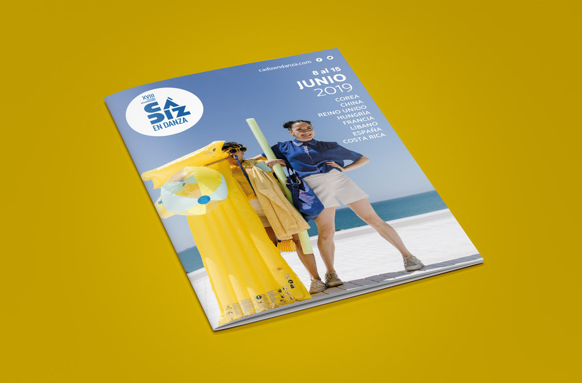 Portada librillo - Imagen de campaña publicitaria - XVIII Festival Internacional Cádiz en Danza