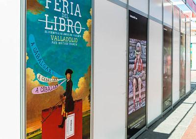 """Vinilos exteriores 2 - Diseño editorial - Maquetación de los soportes """"Feria del Libro de Valladolid 2019"""""""