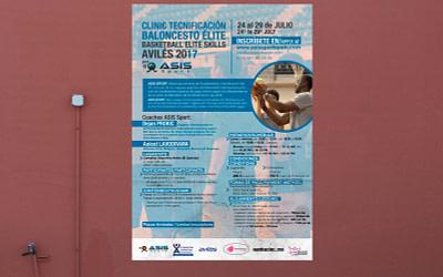 Diseño editorial – Carteles deportivos de basket – Clinic de baloncesto 2017