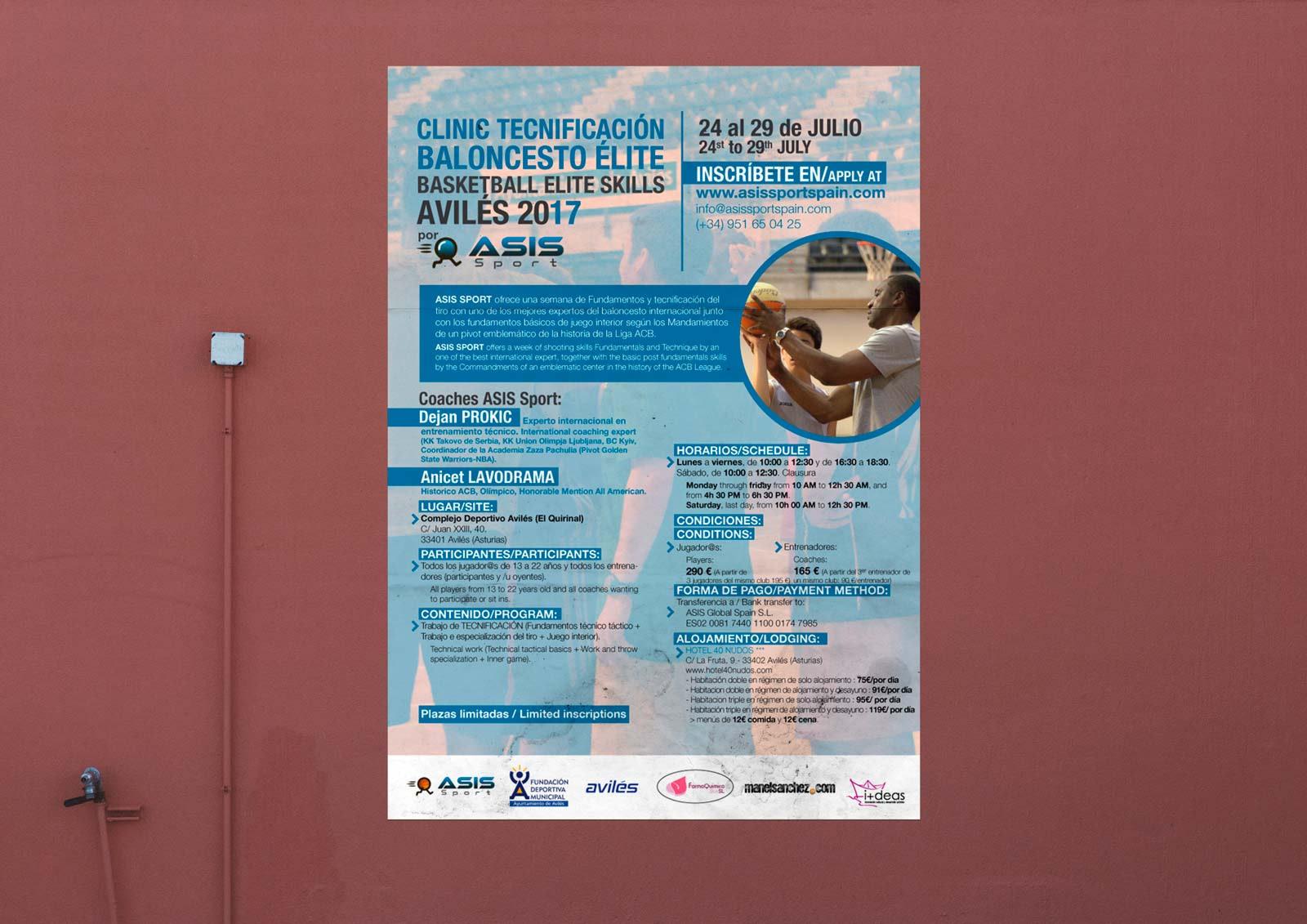 Carteles - Clinic de tiro de Baloncesto Aviles (2017)