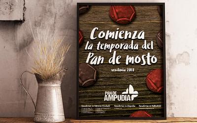 Diseño editorial – Cartel Comienza la temporada del Pan de Mosto (vendimia 2017)