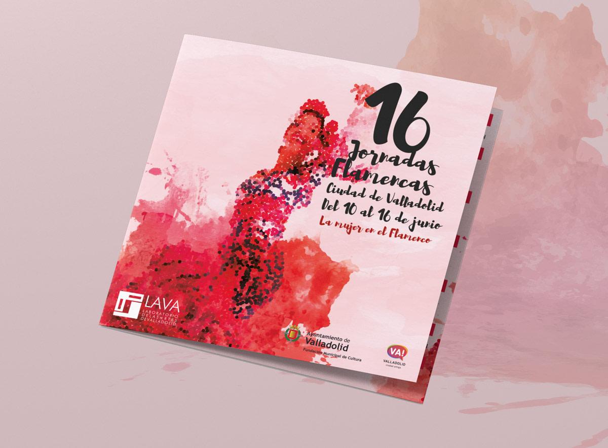Programa portada - Campaña publicitaria - 16º Jornadas Flamencas - Ciudad de Valladolid