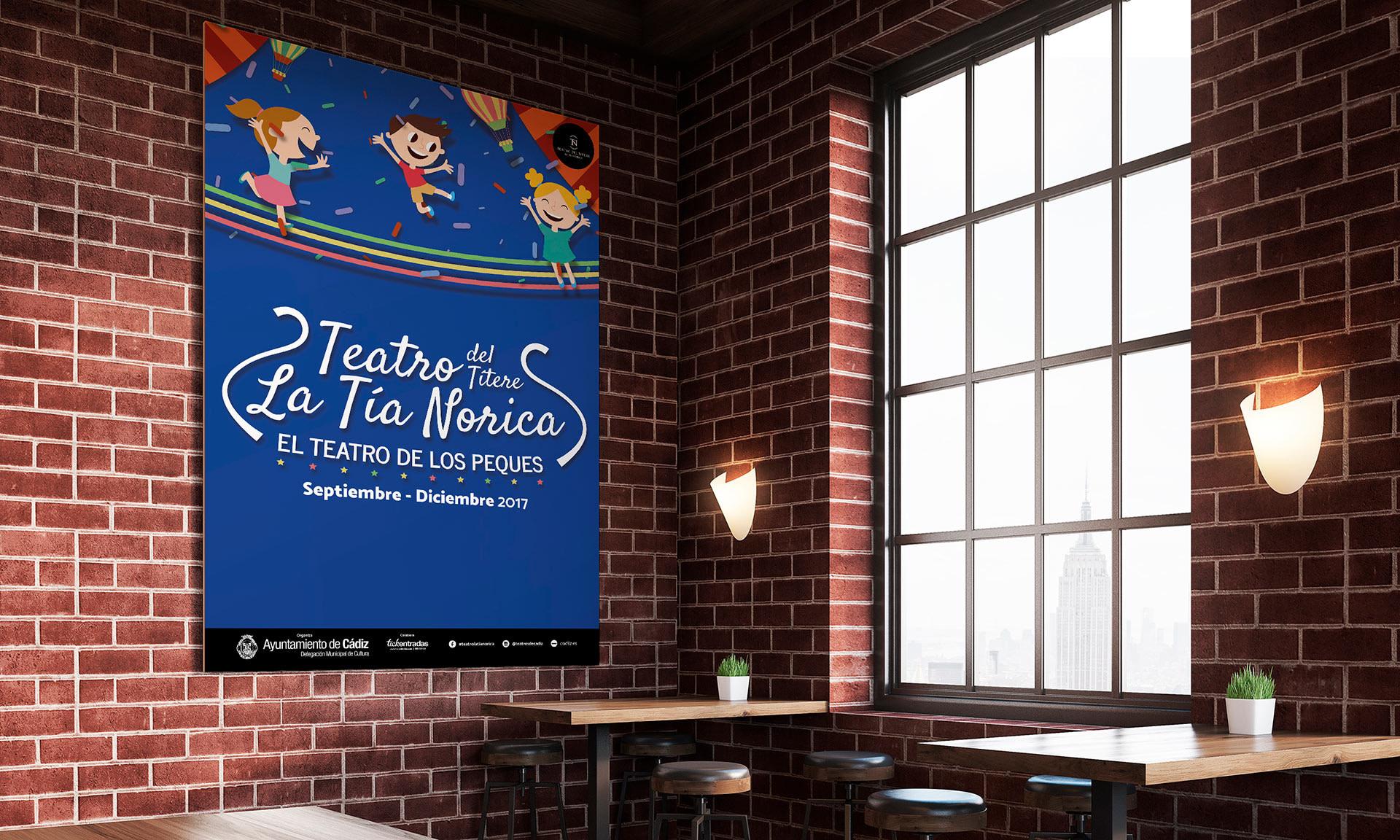 Lona grande - Campaña de publicidad - Teatro del Títere - La Tía Norica (Septiembre - Diciembre 2017)