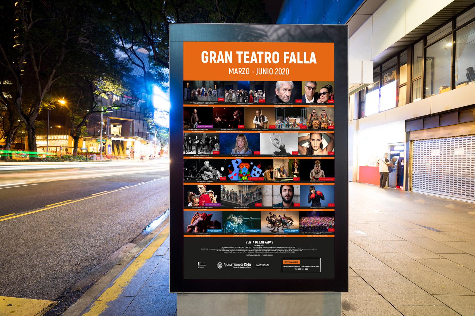 Mupi - Campaña de publicidad - Gran Teatro Falla (Marzo - Junio 2020)
