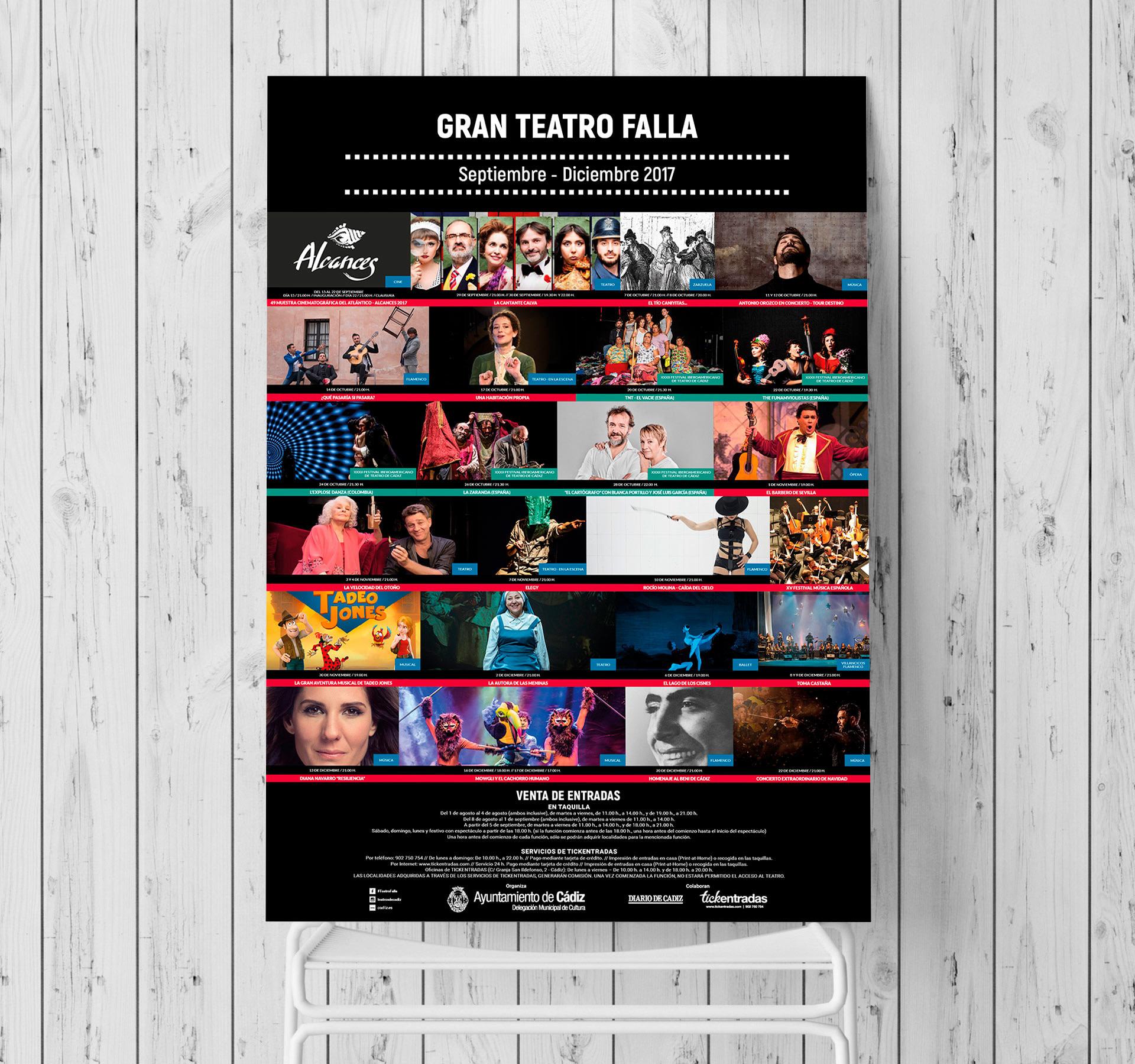Cartel - Campaña de publicidad - Gran Teatro Falla (Septiembre - Diciembre 2017)