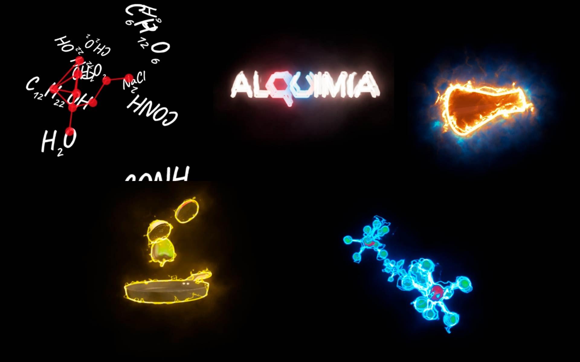 Collage fotogramas - Motion graphics - Proyecciones holográficas Restaurante Alquimia