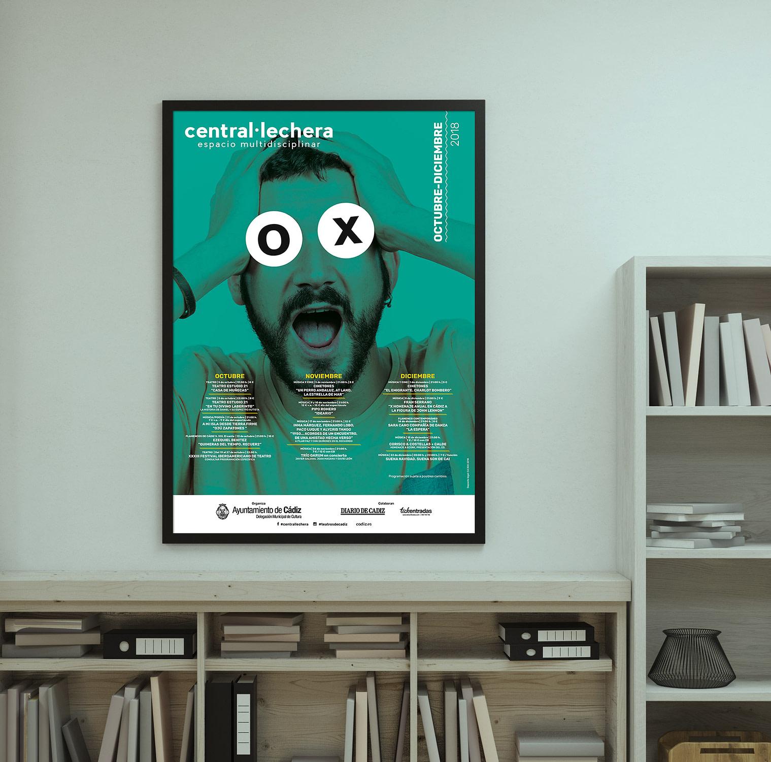 Cartel -campaña de publicidad - Sala Central Lechera (Octubre - Diciembre 2018)