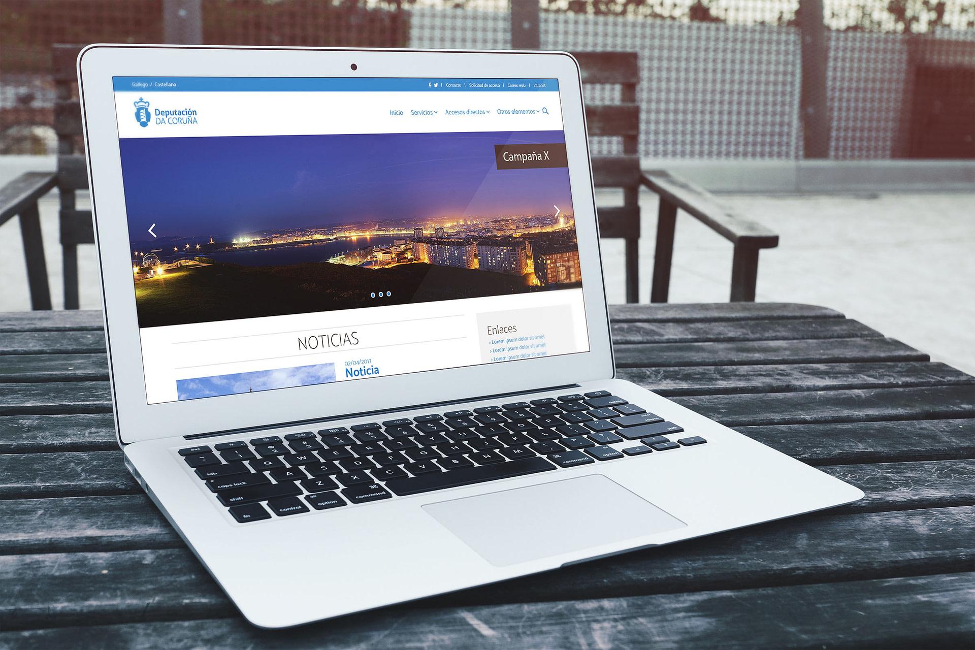 Versión pc - Propuesta de diseño web para el portal web de la Diputación de A Coruña
