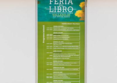 """Vinilo programa infantil - Diseño editorial - Maquetación de los soportes """"Feria del Libro de Valladolid 2019"""""""
