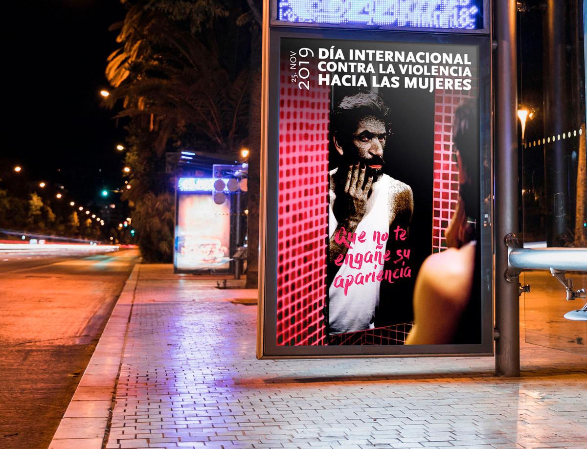 Propuesta de imagen de campaña - Día Internacional contra la Violencia hacia las Mujeres 2019 (Valladolid)