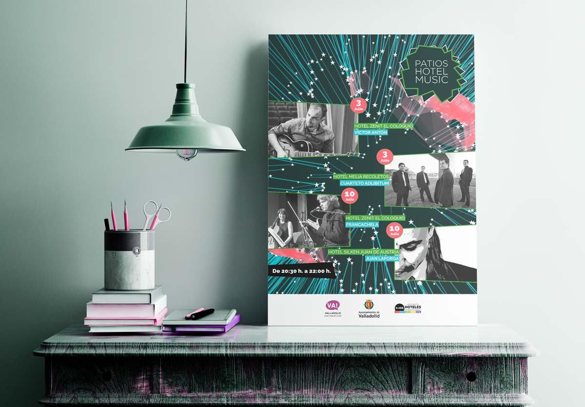 Cartel - Campaña de publicidad - Patios Hotel Music 2019