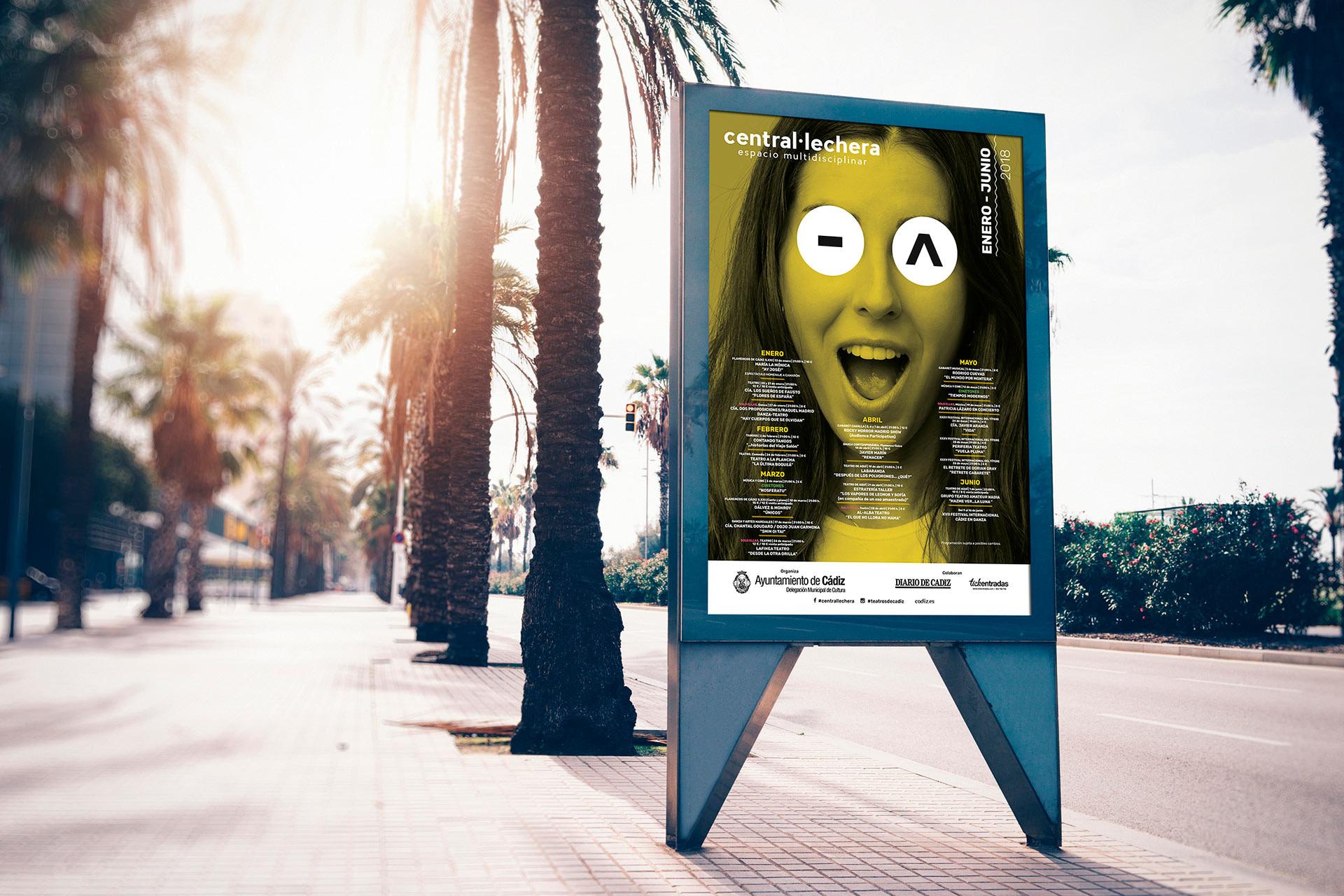 Mupi -Campaña de publicidad - Sala Central Lechera (Enero - Junio 2018)