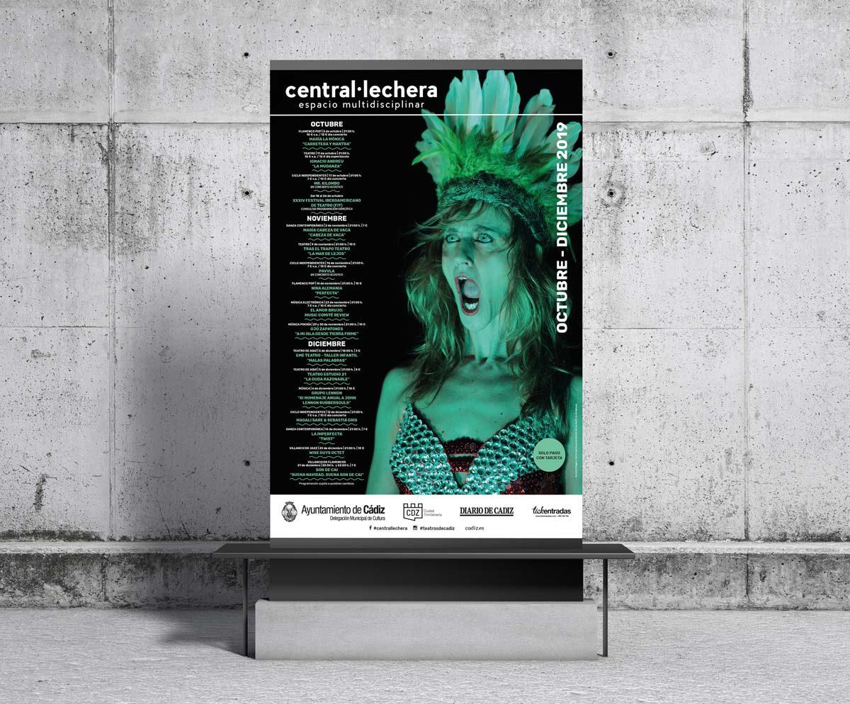 Cartel - Campaña publicitaria – Sala Central Lechera (Octubre - Diciembre 2019)