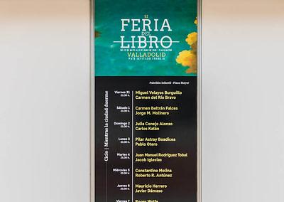 """Vinilo Ciclo noche - Diseño editorial - Maquetación de los soportes """"Feria del Libro de Valladolid 2019"""""""