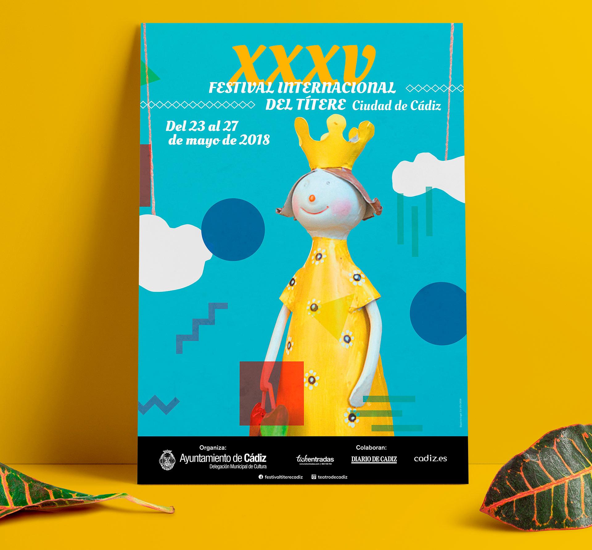 """Cartel - Campaña de publicidad - XXXV Festival Internacional del Títere """"Ciudad de Cádiz"""""""