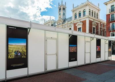 """Vinilos concurso fotografía 2 - Diseño editorial - Maquetación de los soportes """"Feria del Libro de Valladolid 2019"""""""