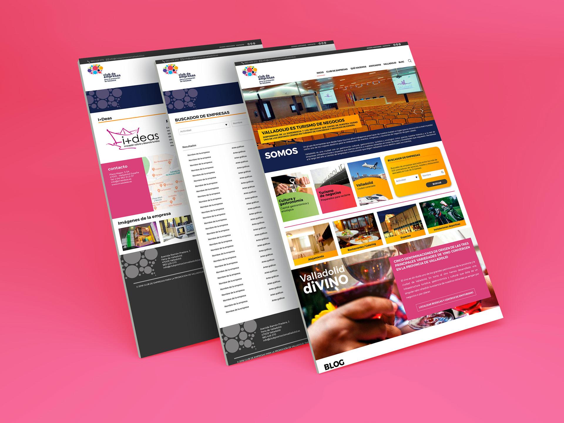 Propuesta de diseño web para Club de Empresas de Valladolid