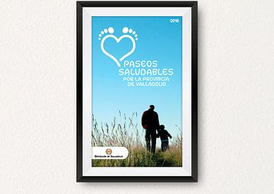 Propuesta de diseño editorial de Paseos Saludables por la Provincia de Valladolid (2018)