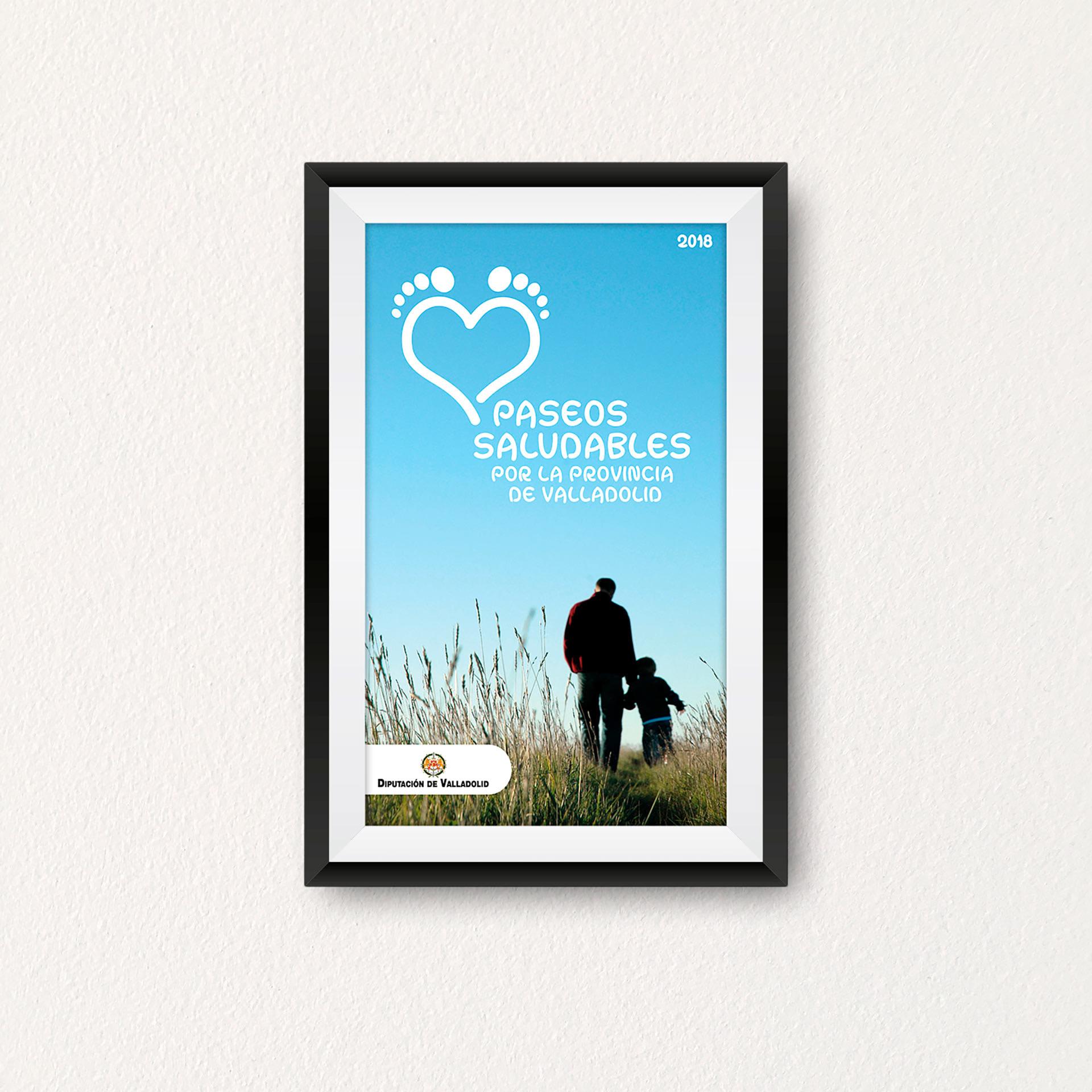 Cartel - Propuesta de diseño editorial de Paseos Saludables por la Provincia de Valladolid (2018)