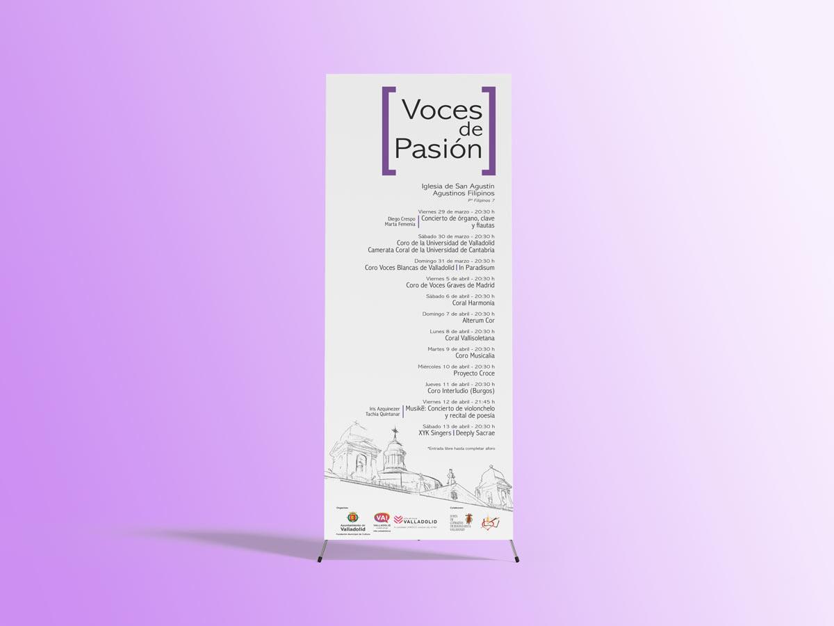 Cartel - Campaña de publicidad - Voces de Pasión 2019