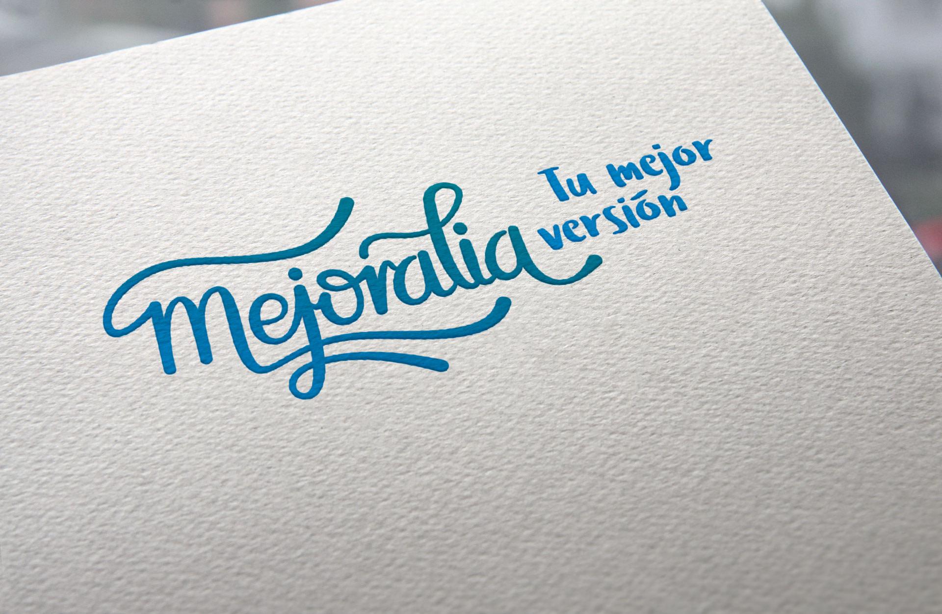 Logotipo definitivo con claim - Diseño de identidad visual corporativa - Logotipo Mejoralia