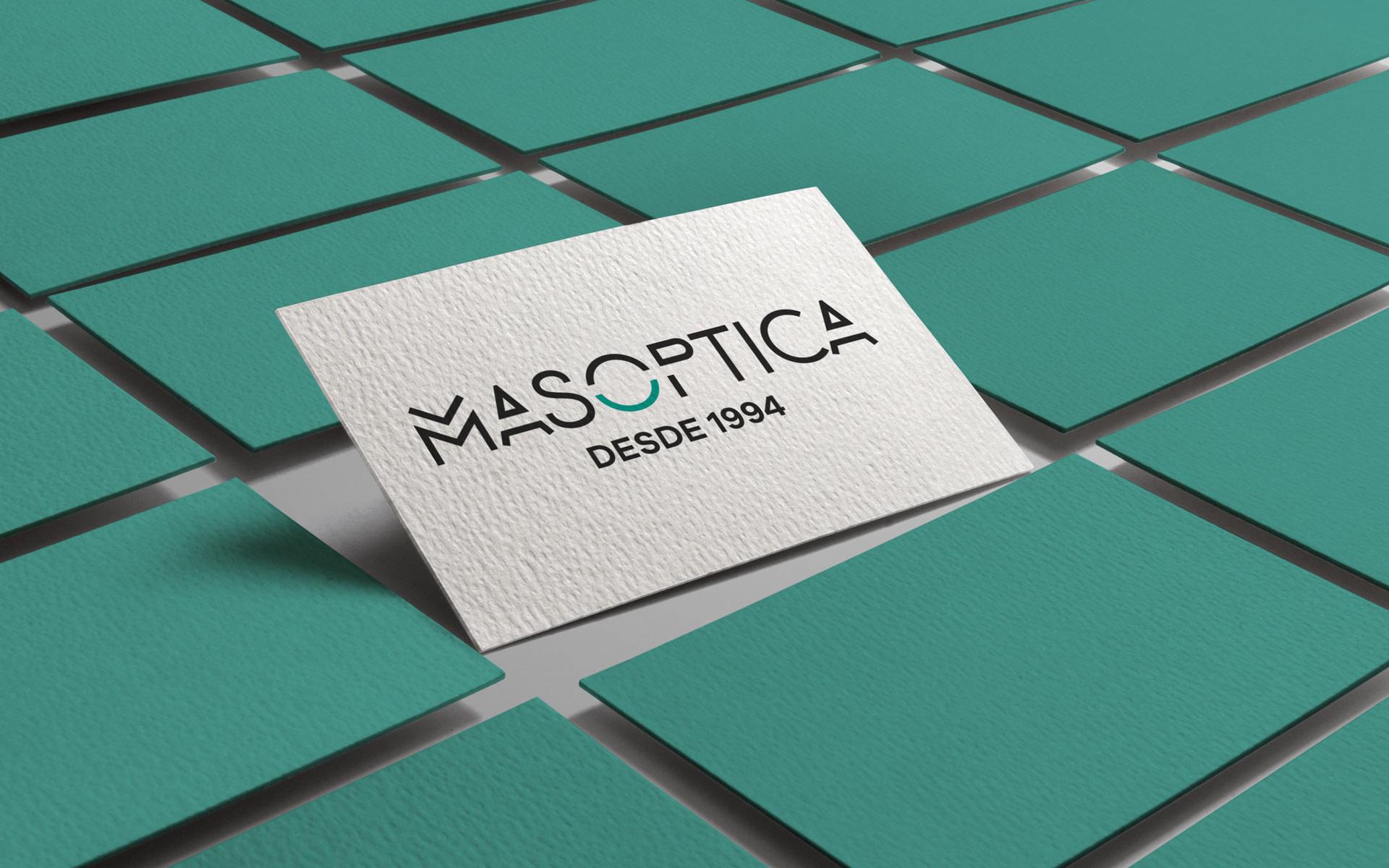 Logtipo definitivo - Desarrollo de marca - Mas Optica