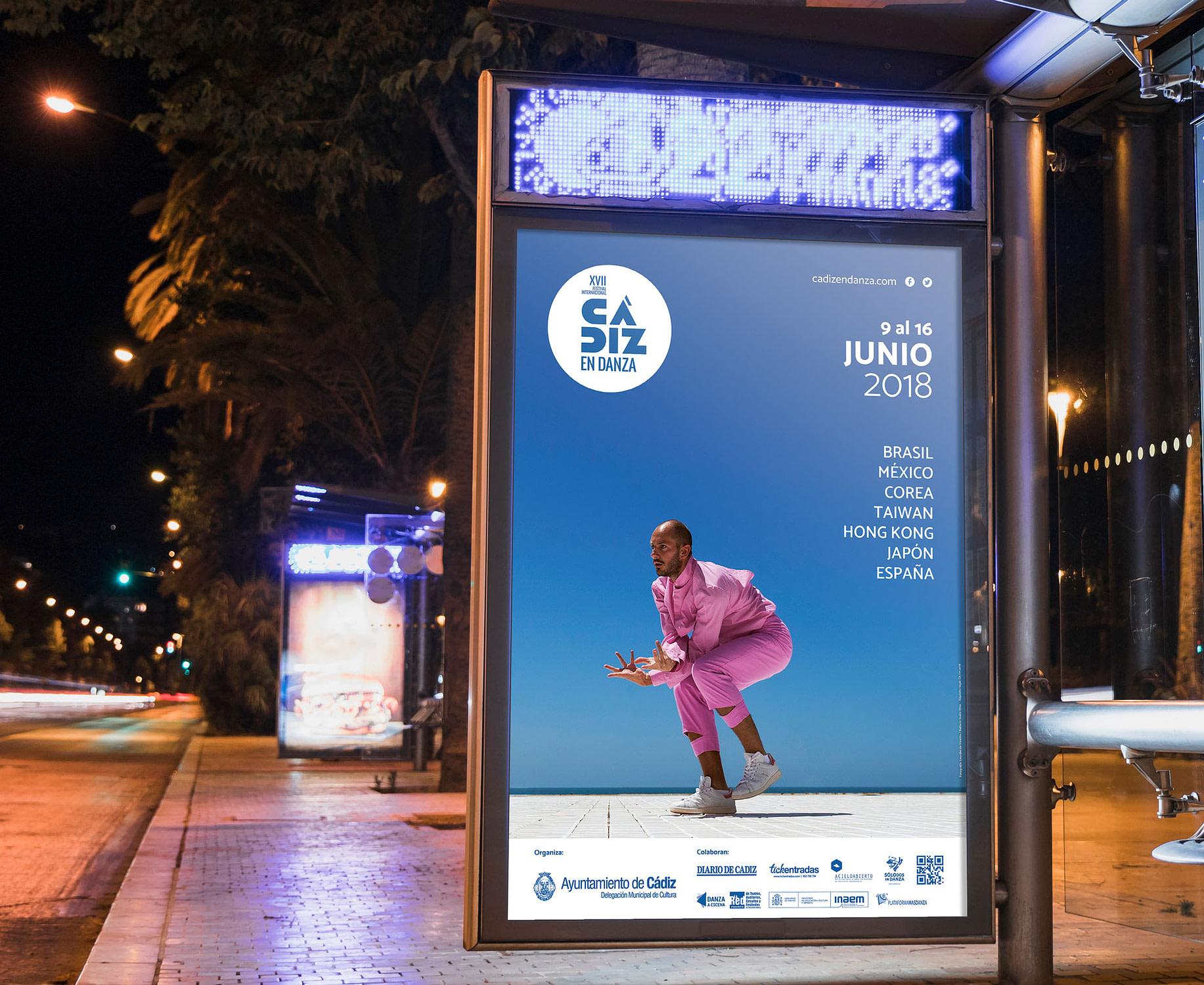 Mupi - Campaña de publicidad - XVII Festival Internacional Cádiz en Danza